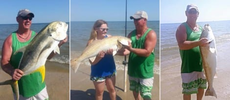 "Gary Johnson says, ""Awesome day of fishing May 3rd, 2015 in the Crystal Beach surf."""