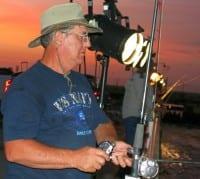 Night-Shift angler casting the lights