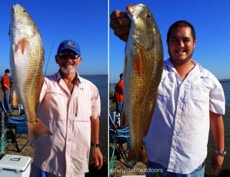 (L) Charles Broussard of Cypress TX; (R) Cypress TX angler Scott Broussard