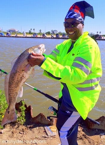 Tamma Jones of Houston took this really nice 23inch slot red while fishing live shrimp