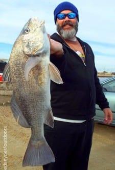 Houston angler Jason Osborne fished live shrimp for this nice black drum