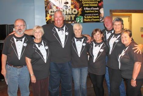 "The ""Casino Bosses"", Brad Bradford, Jan Foster,  Larry Flanagan, Brenda Flanagan, Margo Johnson, Moody Fredenberg, Marsha Fredenberg, Eve Bradford"