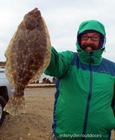 Houston angler John Harris fished berkely gulp to nab this nice flounder