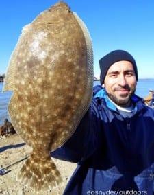 Jonathon Hernandez of Houston fished live shrimp for this nice flounder