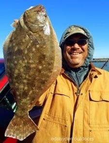 Pasadena angler Hector Perez fished a berkely gulp to nab this nice 20inch flounder