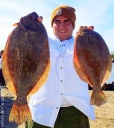 Ronnie Corona of Dayton TX wrangled up these nice flounder on gulp