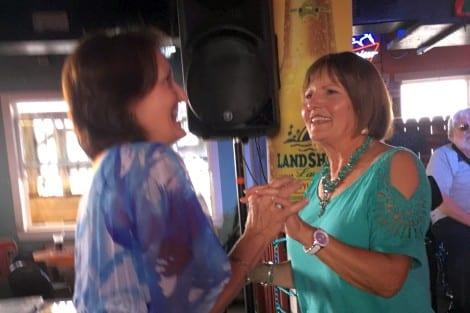 Kathy and Margo enjoy 3 Way Switch.