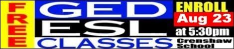 GED/ESL Registration