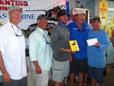 1st place – Team #3 – Captain: Rick Cherry, Team:  Mike May, Joe Rizzo, Drew Maddingly – 27 lbs. 12oz.