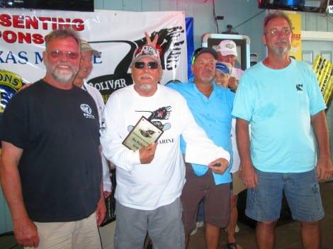 2nd place – Team #11 – Captain: Bruce Edwards, Team: Ron Mondey, Donnie Radley, Rick Squires – 25 lbs. 8 oz.