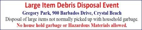 Large Item Debris Disposal Event