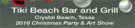 Tiki Beach Bar & Grill Christmas Party & Art Show