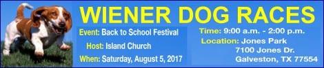 Wiener Dog Races in Galveston