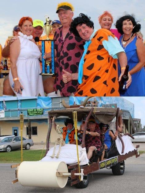 Best Decorated-Second Place: Flintstones Car
