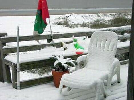 Snow on the beach - 2004