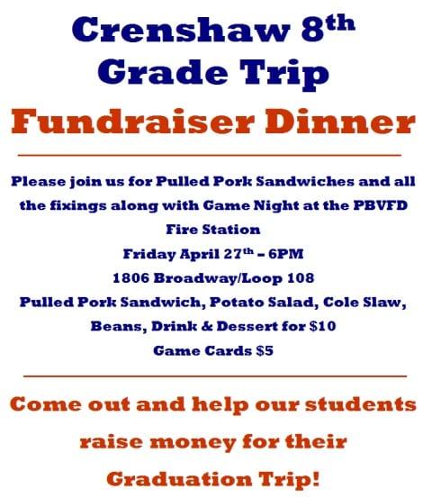 Crenshaw 8th Grade Fundraiser Dinner