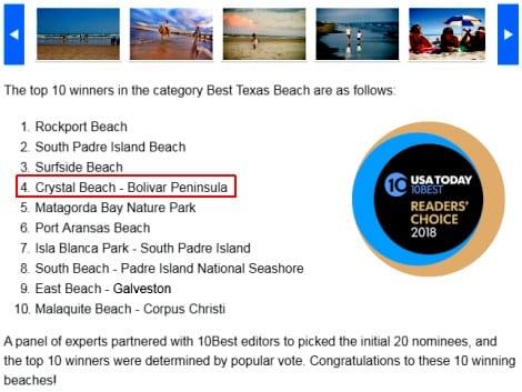Best Texas Beach winners