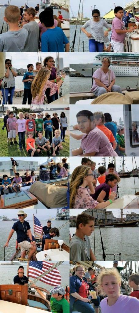 Crenshaw 5th graders sail on a tall ship
