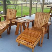 Gulf Cedar deck and patio furniture